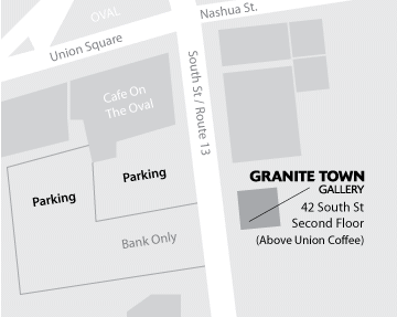 Map of the Milford Oval area showing the location of The Granite Town Gallery