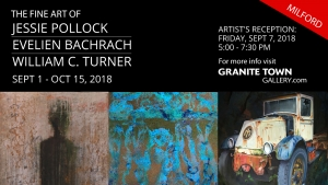 Pollock, Bachrach & Turner: Paintings and Monotypes — Reception Sept 7th